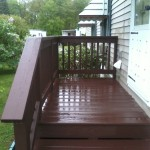 Stain/Refinish deck and rainlings